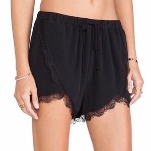 Lovers + Friends Black Young Romance Shorts